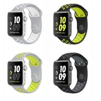 Wholesale 38mm mm Replacement Waterproof Fashionable Silicone Rubber Sports Band Strap For Apple Watch Band Series Multi Colors