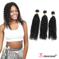 extensions de cheveux très épaisses achat en gros de-De bonne qualité Kinky Curly Hair Weave Malais Hair Bundles Non Traité Virgin Hair Extensions Très épais End No Tangle 3Pcs / Lot