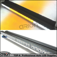 Strobe Light acura grille - Hot Sale LED W Double side Emergency Vehicle Deck Dash Grille Warning Strobe Light Bar Scanner Beacon Lamp White Amber