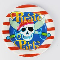 Wholesale quot Pirate Paper Plate New Hot Birthday Party Decoration Kids Freezing Event Party Supplies