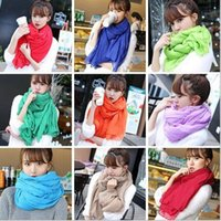 Wholesale 2016 new fashion Korea style solid multi color cotton long scarf spring autumn sun beach towel conditioning shawl big pashmina women scarves