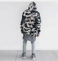 Wholesale New ANTI SOCIAL SOCIAL CLUB ASSC Classic HOODIE hiphop Men Kanye Yeezus Hoodies Palace Skateboard Hoodies Men Pullover Qualit off white