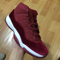 authentic basketball shoes - 2016 high cut New Retro Velvet Heiress wine red Basketball Shoes Men Online S XI Authentic Sports Shoes