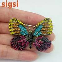 fashion Women's Engagement 2017 45mm jewellry accessories vintage butterfly insert brooch safety pin from online shop