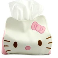 Wholesale A0027 lovely leather wipes bag KT cat leather tissue tissue box storage bag