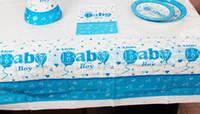 Wholesale BABY boy Theme Boy Girl Birthday Party Decoration Birthday Party Decorations Kids Plastic Table Cloth Size cm X cm