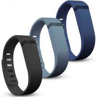 Envío Gratis Nueva alta calidad de la llegada 3 piezas de gran tamaño de la banda de muñeca de silicona de reemplazo con corchete para Fitbit Flex Bracelet