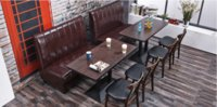 Wholesale waterproof fireproof PDF wooden commercial furniture hot sale fashion customized size optional color coffee desk table chair