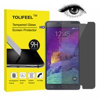 achat en gros de antireflets de galaxie-9H Privacy Anti-Spy protecteur d'écran en verre trempé pour Samsung Galaxy S4 S5 S6 S7 Note 3 4 5 Film protecteur