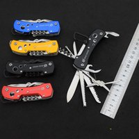 Wholesale 5 Colors CC Multi Knife Swiss Stainless steel practical folding pocket knife survival outdoor camping Army knives EDC Tools