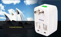 Wholesale All in One International Universal Adapter Travel Power Charger AU UK US EU PLug In Retail package