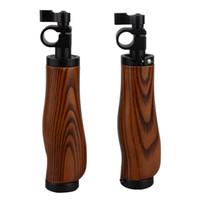 Wholesale Camera Wooden Handle grips for mm rod system DSLR Shoulder Rig support stand