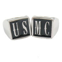 Wholesale Custom made Stainless steel MENS WEMENS SIGNET jewelry initials alphabet US MC name letters ring set brothers sisters gift