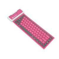 Bluetooth inalámbrico Flexible plegable teclado USB cable universal para Smartphones con 4 colores