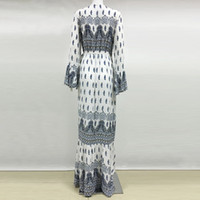 Wholesale No new color summer long sleeved piece flared skirt polyester cover beach bohemian dress