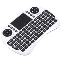 Wholesale Wireless Keyboard i8 keyboards Fly Air Mouse Multi Media Remote Control Touchpad Handheld for TV BOX Android Mini PC B FS