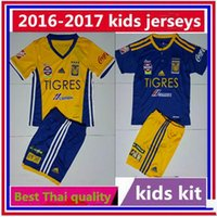 Wholesale Top Quality Tigres UANL jersey child teens Kids Mexico club Tigers Home Away GUERRON GIGNAC DUENAS Shirt