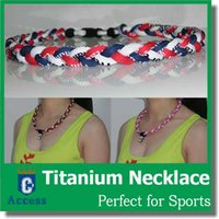 Wholesale newfangled Ionic Titanium Baseball Sports Tornado Necklaces Blue Red White