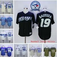 Baseball Men Short 2016 Majestic Jose Bautista Jersey, Toronto Blue Jays 19 Jose Bautista Baseball Jerseys Authentic Sports Shirts Baseball Jersey