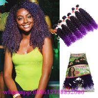 al por mayor ombre púrpura armadura del pelo peruano-La armadura brasileña del pelo del nuevo estilo envuelve la extensión sintética del pelo de la trenza del ombre del ombre del pelo sintético púrpura