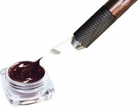 Wholesale Goochie Permanent Makeup Professional Manual Tattoo Permanent Makeup Eyebrow Pen with Pieces pins Blade Needle