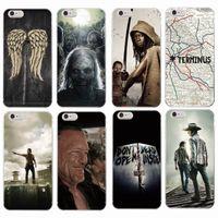 achat en gros de cas de zombies-Le Zombie Walking Dead Rick Daryl Dixon Wings étui téléphone souple pour iPhone 7 7Plus 6 6S 6Plus 5 5S SE 5C 4s