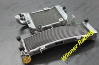 alloy honda motorcycles - L R aluminum alloy radiator For Honda VFR400R NC30 NC35 water box motorcycle replacement parts engine cooling parts