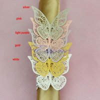 Wholesale Drop SHIPPING New Colors Butterfly Napkin Rings Wedding Holder Bridal Shower Favor