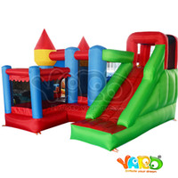 Wholesale YARD in All round Inflatable Bouncer Giant Bouncy House Castle For Kids Party Games