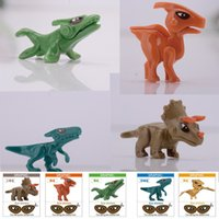 Wholesale 6cm Mini Dinosaurs of Jurassic Park World Figure movie Kid Baby Toy Building Blocks Sets Model Toys Minifigures Brick