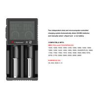 al por mayor x2 electrónica-Original Brillipower X2 Cargador universal e cigs electronic cigaretters cargador de batería para 18650 18500 26650 Brillipower X2 X4 BIC2