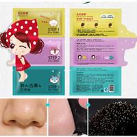 Wholesale Steps Facial Treatment - 3 Steps Pilaten Blackhead Remover Nose Mask Black Head Mask Deep Cleansing Cosmetics Facials Acne Treatment Mask Pore Cleaner
