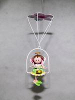 angels handicrafts - Girl Toys Home Decoration Iron Handicraft Angel Doll Aeolian Bells Parachute