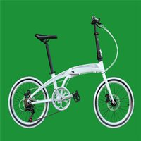 Wholesale 20 Folding Bike Speed inch shaped aerospace aluminum Double Disc Brakes Folding Bicycle