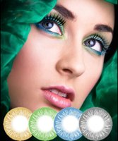 Wholesale send case free colors cosmetic color contact lenses top quality Natural contact lens