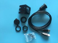 Wholesale 100pcs Car Panel Mount Installation Dual USB2 Extension Cable ft m
