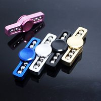 Dual Bar Hand Spinner Toy Colorful Thunder Light Fdiger Spinner Inteligence Détection de jouets Portable Focus Spinners En stock
