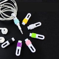 Wholesale USB Cable Data Line Earphone Line Protector Cover Saver Liberator For iPhone Android Links Headphone Cord Headphone