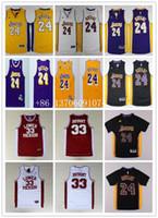 high school uniforms - Super Quality Kobe Bryant Jersey Throwback High School Lower Merion Kobe Bryant Retro Shirt Uniform Yellow Purple White Black Red
