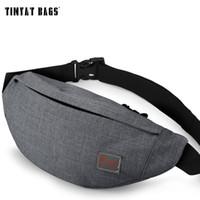 Wholesale 2016 TINYAT Men Male Casual Functional Fanny Bag Waist Bag Money Phone Belt Bag T201 Gray Black