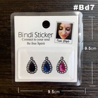 Wholesale Pearl and Rhinestone Bindi Sticker Handpicked Hippie Style forehead decoration