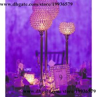 Wholesale 10 Europe Beaded Real Crystal Crystals Candle Holder GOBLET quot gold
