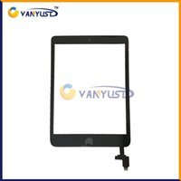 Wholesale Touch Screen Glass Panel with Digitizer Buttons Adhesive for iPad mini Black and White Replacement Repair