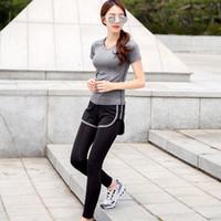 Wholesale Women Suits Vertvie Fitness Women Set Sports Yoga Set For Gym Running Sportwear Suit Elasticity Lady Fitness YOga Clothing Sports
