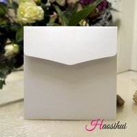 Wholesale 16 X16 cm Square Invitation card paper vintage envelope Invitation bag for wedding party envelope