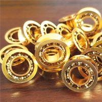 Wholesale 24k gold plate Stainless Steel R188 beads hand spinner top yo yo KK Bearing puller yo yo accessory long time sleep minites