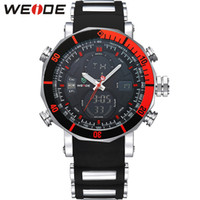 batteries for alarm clocks - WEIDE Top Brand Watch Men Sports Series Luxury Logo Multi functional Analog Quartz Digital Alarm Stopwatch Big Clock For Man