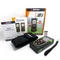 Wholesale 40m FT Handheld Laser Distance Meter Bubble Level Tool Rangefinder Range Finder Tape Measure Area Volume M IN FT