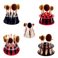 Wholesale 10 Hole Oval Makeup Brush Holder Dryer Rack Organizer Toothbrush Cosmetic Shelf Display Stand ZA2036