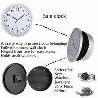 as pic antique storage box - Hidden Secret Wall Clock Safe Money Stash Jewellery Stuff Storage Container Box